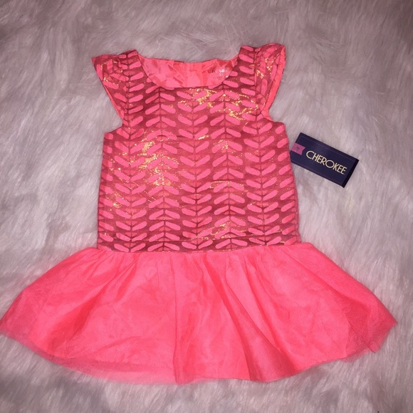 Cherokee Other - Pink and gold tutu dress- Cherokee